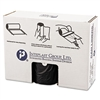 High-Density Can Liner, 38 x 58, 60gal, 22mic, Black, 25/Roll, 6 Rolls/Carton