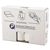 High-Density Can Liner, 38 x 58, 60gal, 14mic, Clear, 25/Roll, 8 Rolls/Carton