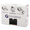 High-Density Can Liner, 40 x 46, 45gal, 22mic, Black, 25/Roll, 6 Rolls/Carton