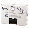 High-Density Can Liner, 43 x 46, 60gal, 22mic, Black, 25/Roll, 6 Rolls/Carton