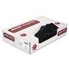Low-Density Can Liners, 20-30 Gallon, .65mil, Black, 200/Carton