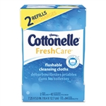 Fresh Care Flushable Cleansing Cloths, White, 3.73 x 5.5, 84/Pack, 8 Pk/Ctn
