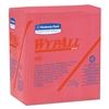 X80 Wipers, 1/4-Fold, HYDROKNIT, 12 1/2 x 13, Red, 50/Box, 4 Boxes/Carton