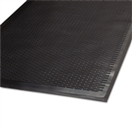 Clean Step Outdoor Rubber Scraper Mat, Polypropylene, 36 x 60, Black