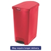 Slim Jim Resin Step-On Container, End Step Style, 24 gal, Red