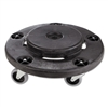 Brute Round Twist On/Off Dolly, 250lb Capacity, 18dia x 6 5/8h, Black
