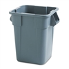 Brute Container, Square, Polyethylene, 40gal, Gray