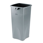 Untouchable Square Container, 23gal, Gray