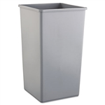 Untouchable Waste Container, Square, Plastic, 50gal, Gray