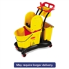 WaveBrake Mopping Trolley Down-Press Bucket/Wringer Combo, 8.75 gal, Yellow