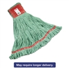 Web Foot Wet Mops, Cotton/Synthetic, Green, Large, 5-in. Red Headband,  6/Carton