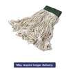 Super Stitch Blend Mop Heads, Cotton/Synthetic, White, Medium