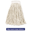 Economy Cotton Mop Heads, Cut-End, White, 16 oz, 5-In White Headband