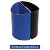 Desk-Side Recycling Receptacle, 7gal, Black and Blue