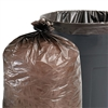 100% Recycled Plastic Garbage Bags, 33gal, 1.5mil, 33 x 40, Brown/Black, 100/CT