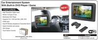 "DVD9850 - ACCELE - ONE 9"" Headrest Monitor w/Media player, USB-SD & HDMI, Game and IR"