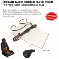 JW-C200N - ACCELE Trimmable Carbon Fiber Seat Heating System