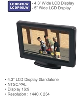 "LCDP43LW - ACCELE 4.3""LCD Plastic housed w/ adjustable mount"