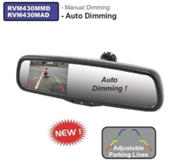 "RVM430MMD - ACCELE 4.3"" LCD Rear View mirror glass mount with  Manual Dim and more"
