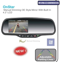 "RVM430MMDOS - ACCELE 4.3"" LCD Rear View mirror glass mount with Onstar-Manual Dim"