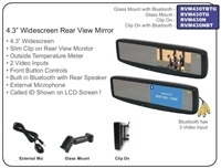 "RVM430TG - ACCELE 4.3"" LCD Rear View mirror glass mount with temp"