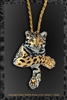 "Clouded Leopard Pendant ""Cloud of Siam"" by wildlife artist Daniel C. Toledo, Toledo Wildlife Works of Art"