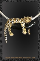 "CLOUDED LEOPARD PENDANT ""A FINE CLOUDY DAY"""