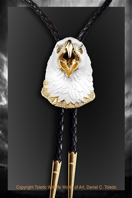 Bald eagle bolo by wildlife artist Daniel C. Toledo, Toledo Wildlife Works of Art