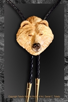 "Grizzly bear bolo ""Oso Wonderful"" by wildlife artist Daniel C. Toledo, Toledo Wildlife Works of Art"