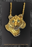 "Lion Pendant ""Youngblood"" by wildlife artist Daniel C. Toledo, Toledo Wildlife Works of Art"