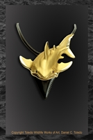 Great White Shark Tooth Pendant by wildlife artist Daniel C. Toledo, Toledo Wildlife Works of Art
