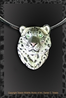 "SNOW LEOPARD PENDANT ""GHOST CAT"""