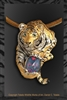 "Bengal Tiger Pendant ""Gem of a Tiger"" by wildlife artist jeweler Daniel C. Toledo, Toledo Wildlife Works of Art"