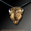 "Bison Pendant ""American Monarch"" by wildlife artist jeweler Daniel C. Toledo, Toledo Wildlife Works of Art"