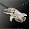"Dolphin Pendant ""Angel of the Sea"" by wildlife artist and jeweler Daniel C. Toledo, Toledo Wildlife Works of Art"