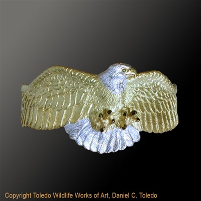 "Bald Eagle Bracelet ""America's Pride"" by wildlife artist and jeweler Daniel C. Toledo, Toledo Wildlife Works of Art"