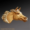 "Arabian Horse Pendant ""Wind Dancer"" by wildlife artist and jeweler Daniel C. Toledo, Toledo Wildlife Works of Art"