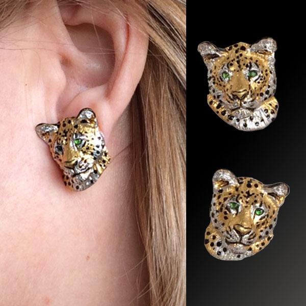 81be1d900 Leopard Earrings