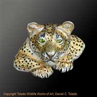 "Cheetah Pendant ""Silent Beauty"" by wildlife artist and jeweler Daniel C. Toledo, Toledo Wildlife Works of Art"