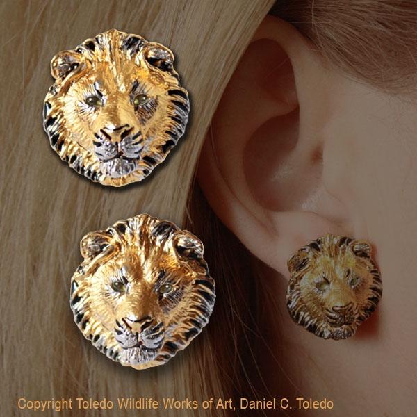 e38b545d0 Lion Earrings