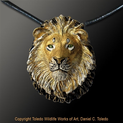 "Cheetah Pendant ""Shirley's Cheetah"" by wildlife artist Daniel C. Toledo, Toledo Wildlife Works of Art"