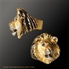 "Lion Ring ""Kalahari Queen"" by wildlife artist and jeweler Daniel C. Toledo, Toledo Wildlife Works of Art"