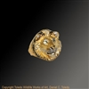"Lion Ring ""Son of Simba"" by wildlife artist and jeweler Daniel C. Toledo, Toledo Wildlife Works of Art"