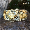 "Tiger Bracelet ""Cat in the Grass"" by wildlife artist and jeweler Daniel C. Toledo of Toledo Wildlife Works of Art"