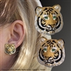 "Tiger Earrings ""A Royal Pair"" by wildlife artist and jeweler Daniel C. Toledo, Toledo Wildlife Works of Art"