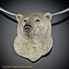 "Polar Bear Pendant ""Conqueror of the North"" by wildlife artist and jeweler Daniel C. Toledo, Toledo Wildlife Works of Art"