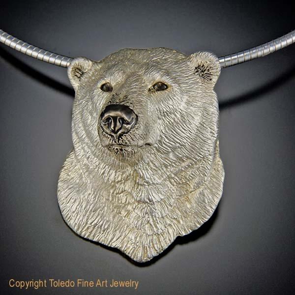 Polar bear pendant conqueror of the north aloadofball Gallery