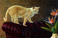"GICLEE PRINT ""KEEPING AN EYE ON THE BIRDS"""