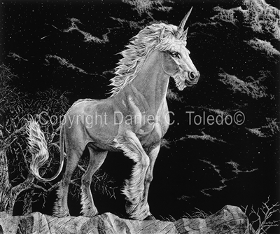 "SCRATCHBOARD PRINT ""LAST OF HIS KIND"""