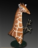 "Giraffe bronze sculpture ""Handsome Rob"" by wildlife sculptor Daniel C. Toledo, Toledo Wildlife Works of Art"